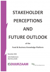 Rapport Stakeholder Perceptions & Future Outlook F&BKP